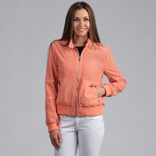 Kenneth Cole Women's Perforated Bomber Jacket