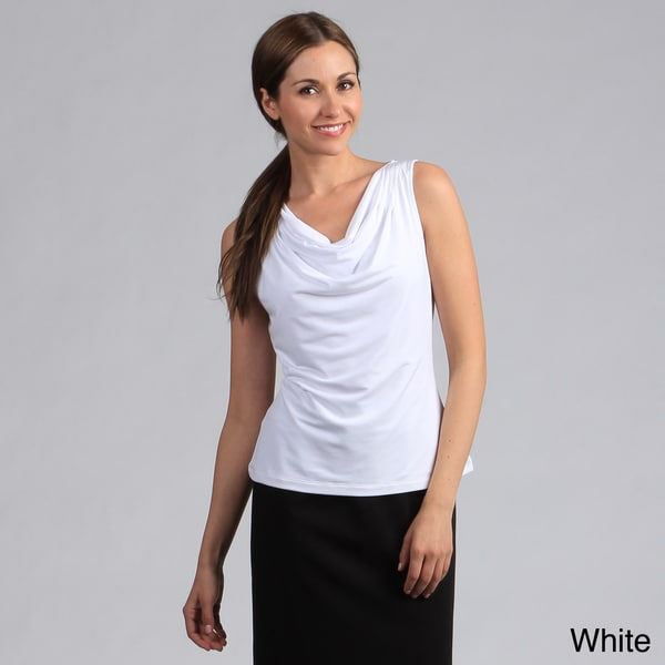 Calvin Klein Women's Sleeveless Cowl Neck Top