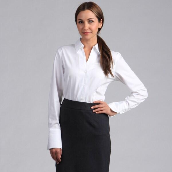 Calvin Klein Women's Long Sleeve Button-down Blouse