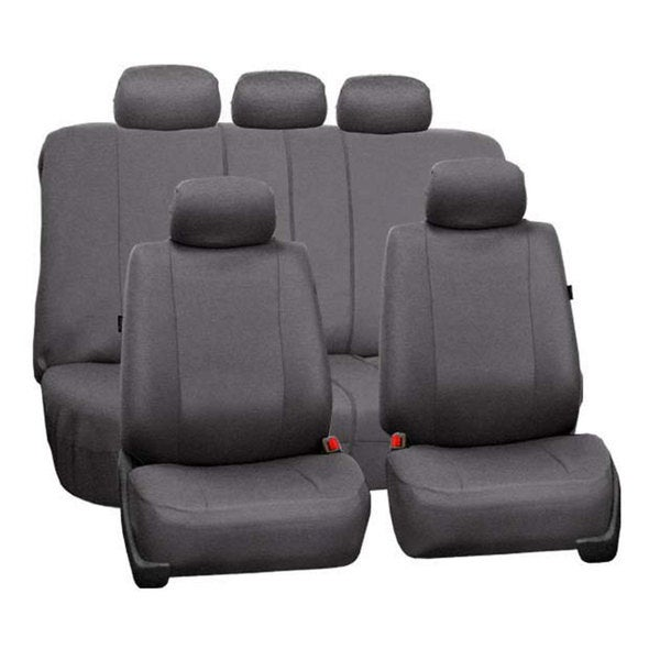 FH Group Charcoal Gray Full Set Split Bench Airbag Compatible Seat Covers