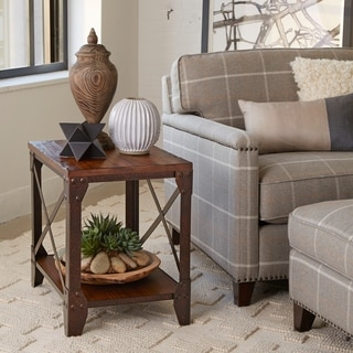 'Pinebrook' Natural Pine Rectangular End Table
