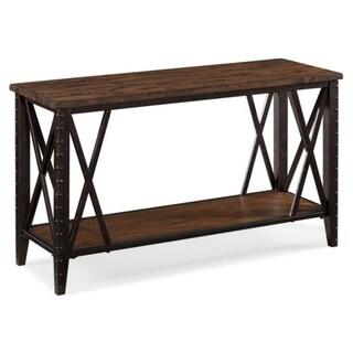 Flemingwood and Metal X-leg Rectangular Sofa Table