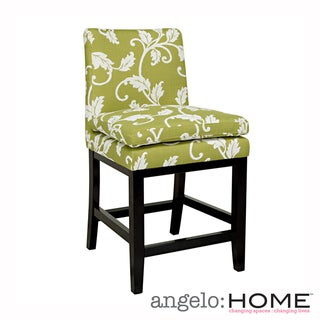 angelo:HOME Marnie Spring Leaf Upholstered 23-inch Bar Stool