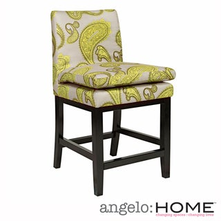 angelo:HOME Marnie Modern Lemongrass Upholstered 23-inch Bar Stool