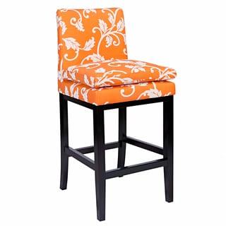 angelo:HOME Marnie Pumpkin Blossom Upholstered 29-inch Bar Stool