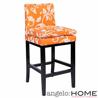 angelo:HOME Marnie Pumpkin Blossom Upholstered 29-inch Bar Stool
