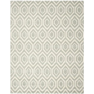 "Handmade Moroccan Gray Wool Geometric Rug (8'9"" x 12')"