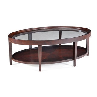 Carson Sienna Oval Cocktail Table