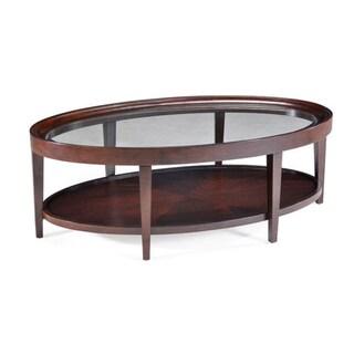 Carson Sienna Oval Cocktail Table