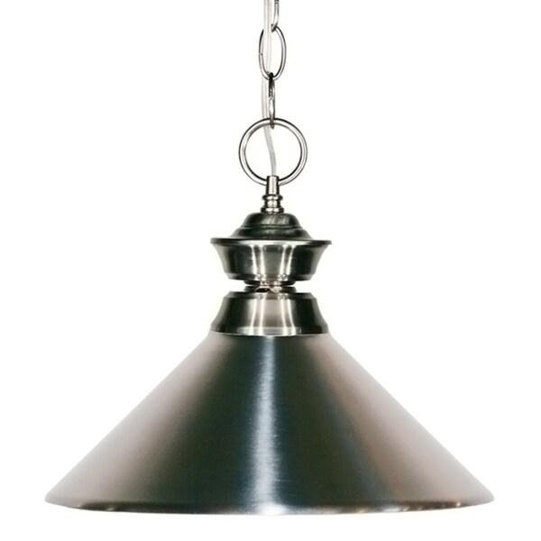 Brushed Nickel Shade 1-light Pendant