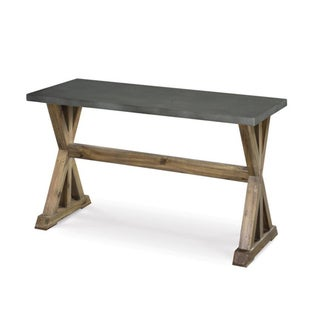 Lybrook Zinc-topped X-frame Sofa Table