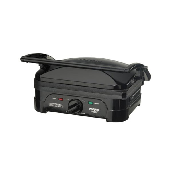 Waring Pro Black Indoor Griddle and Panini Press