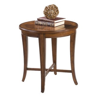 'Kingston' Walnut Inlay Round End Table