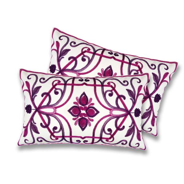Lush Decor Georgina Fuchsia Decorative Pillows (Set of 2)
