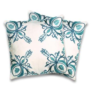 Georgette Turquoise Decorative Pillows (Set of 2)
