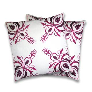 Lush Decor Georgette Fuchsia Decorative Pillows (Set of 2)
