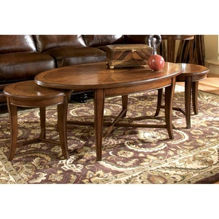 'Kingston' Walnut Bunching 3-piece Cocktail and Nesting Table Set
