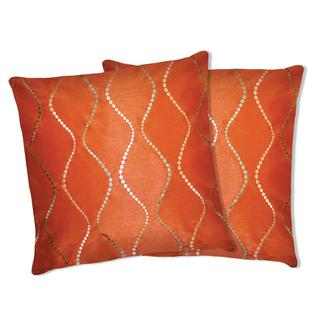Lush Decor Orange Swirl Decorative Pillows (Set of 2)