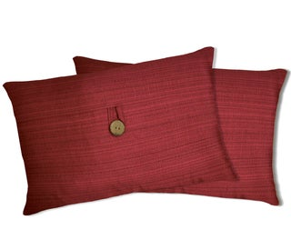 Lush Decor Red Linen Oblong Decorative Pillows (Set of 2)