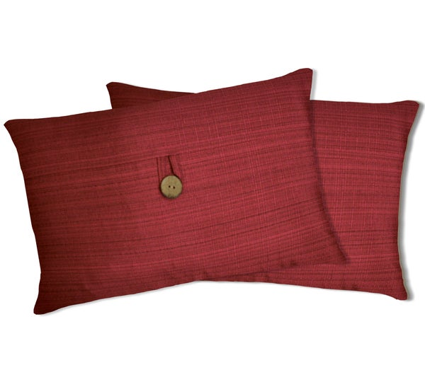 Lush Decor Red Linen Oblong Decorative Pillows (Set of 2)