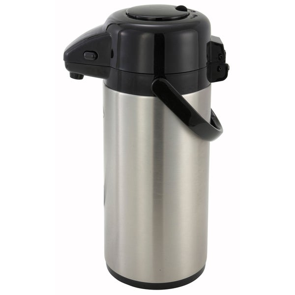 Winco 3-liter Steel Vacuum-insulated Push-button Airport Coffee Server