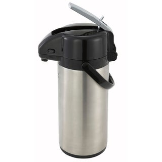 Winco 3-liter Steel Vacuum-insulated Lever-top Airport Coffee Server