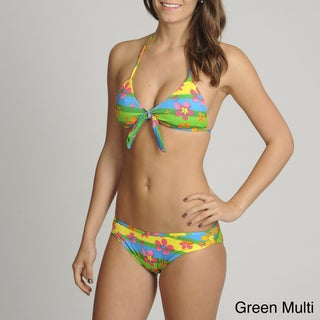 On Shore Two-Piece Tropical Floral Bikini Swimsuit