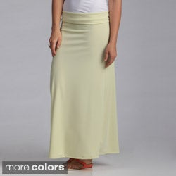 Stanzino Women's Solid Maxi Skirt