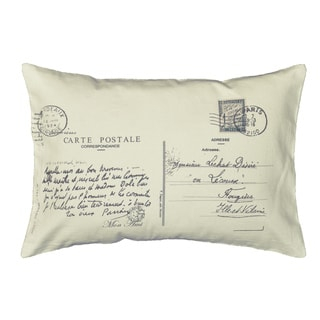 Postcard Letter Small Bolster Decorative Pillow