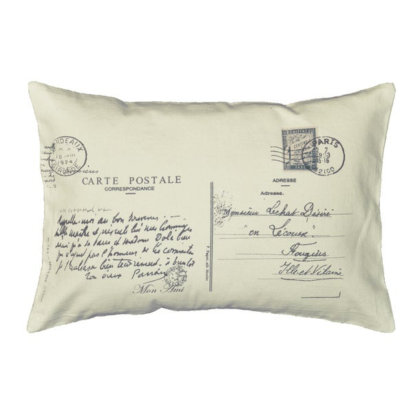 How To Make A Small Decorative Pillow : Postcard Letter Small Bolster Decorative Pillow - 15384329 - Overstock.com Shopping - Great ...