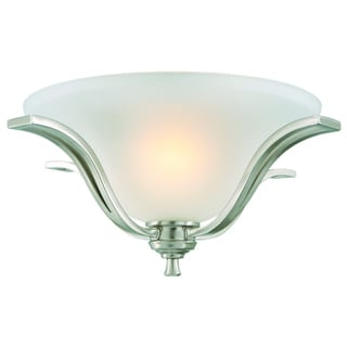 Design House Ironwood Satin Nickel Energy Star 2-light Ceiling Mount