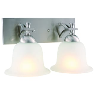 Design House 515635 Ironwood 2-light Satin Nickel Energy Star Wall Sconce