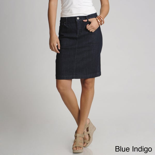 gloria vanderbilt s 5 pocket jean skirt 15384338