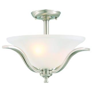 Design House 515593 Ironwood 2-light Satin Nickel Energy Star Semi Flush Ceiling Mount