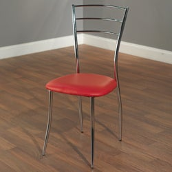 Mabel Chrome Finish Dining Chairs (Set of 4)