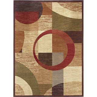 'Rhythm' Multicolored Geometric Area Rug (8' x 10')