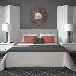Diamond Tufted Arcadia Natural Headboard
