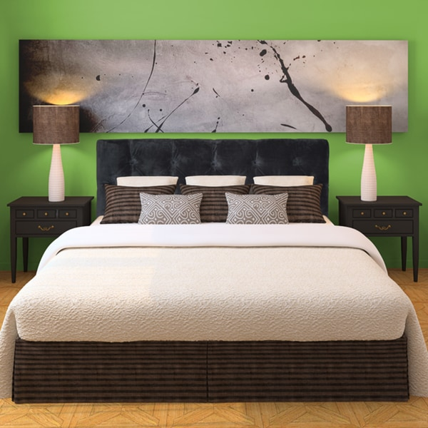 Diamond Tufted Diva Smoke Headboard