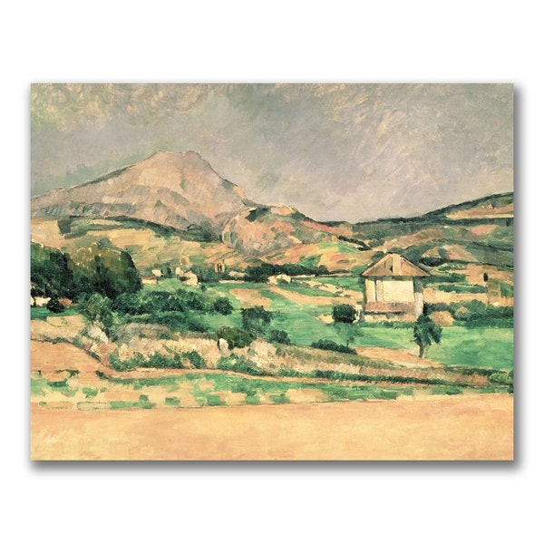 Paul Cezanne 'Montagne Sainte-Victoire 1882-1885' Canvas Art