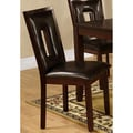Dahlia Keyhole Dark Brown Dining Chairs (Set of 2)