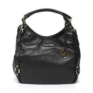 Michael Kors 'Bedford' Black Leather Shoulder Tote Bag