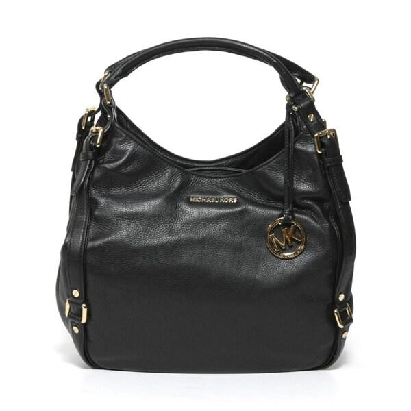 MICHAEL Michael Kors 'Bedford' Black Leather Shoulder Tote Bag