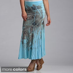 Tabeez Women's Peacock Feather Skirt