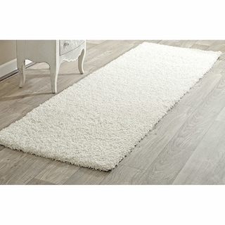 nuLOOM Alexa My Soft and Plush White Shag Runner (2'8 x 10')