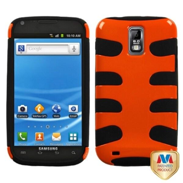 INSTEN Orange/ Black Fishbone Phone Case Cover for Samsung T989 Hercules