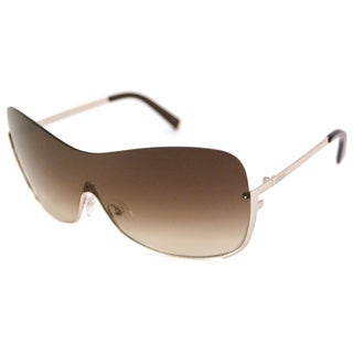 Fendi Women's FS5209 Gold/Brown Gradient Shield Sunglasses