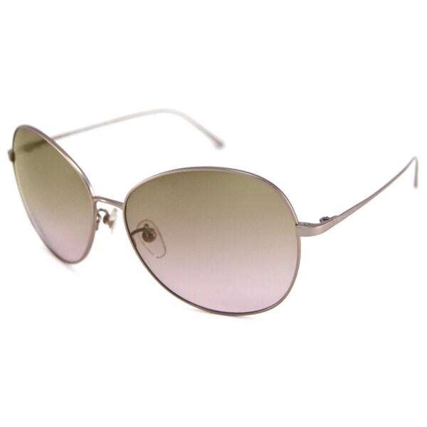 Michael Kors Women's MKS734 Round Metal Frame Bretton Aviator Sunglasses