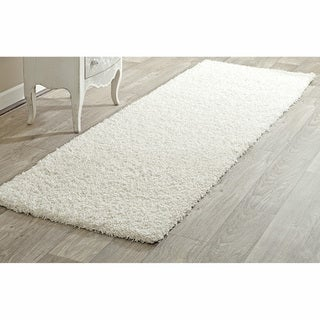 nuLOOM Alexa My Soft and Plush White Shag Runner (2'8 x 12')