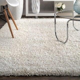 nuLOOM Alexa My Soft and Plush White Shag Runner (2'8 x 12')