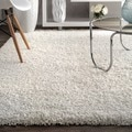Alexa My Soft and Plush White Shag Runner (2'8 x 12')